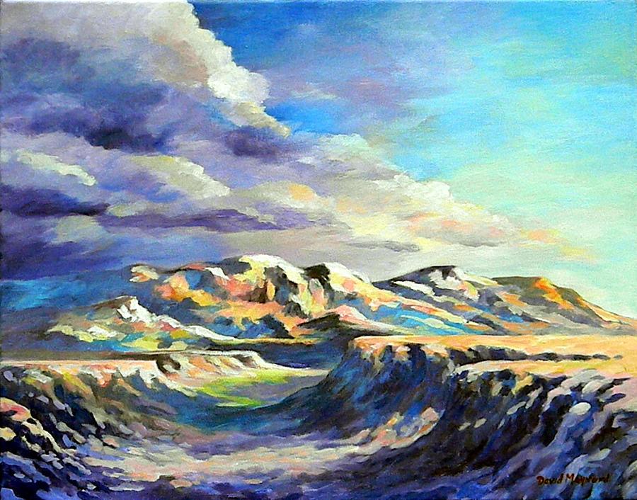 Mountains Painting - Morning Shadows by David  Maynard