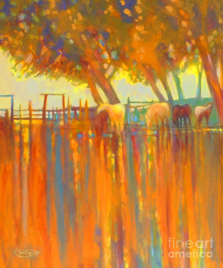 Morning Shadows Painting by Kip Decker
