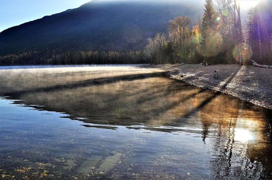 Reflections Photograph - Morning Shadows by Mike Helland