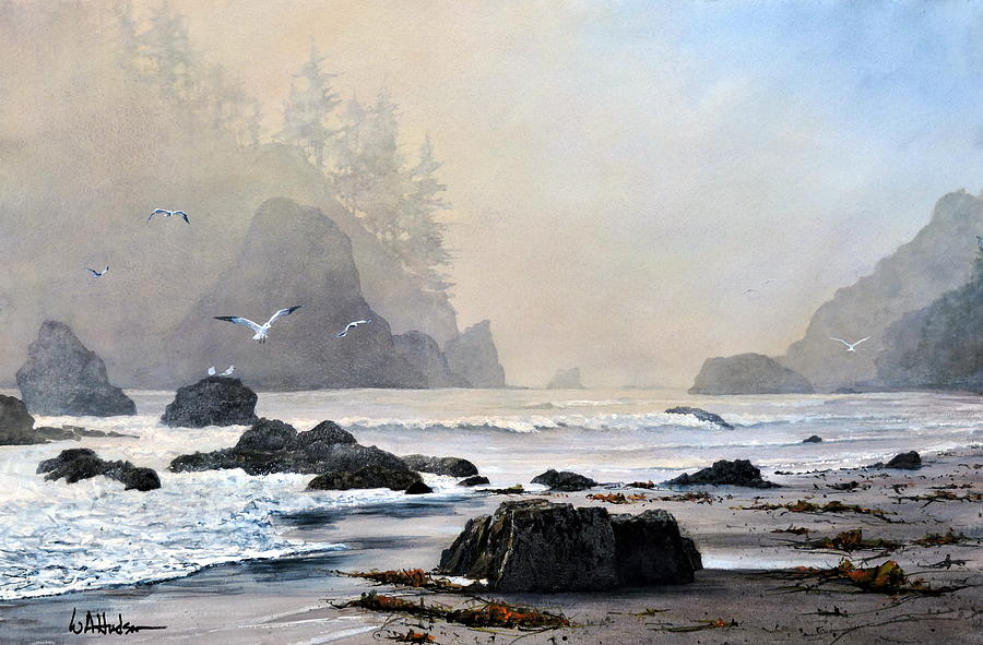 Maritime Painting - Morning Shore by Bill Hudson