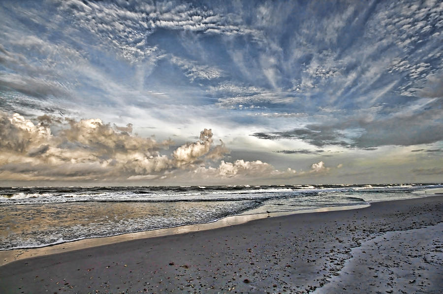 Longboat Key Photograph - Morning Sky At The Beach by HH Photography of Florida