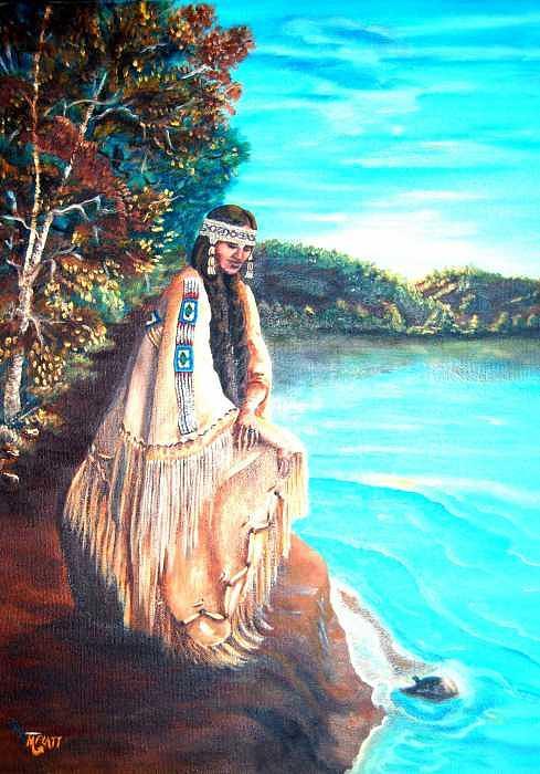 Native American Painting - Morning Song by Margaret Platt