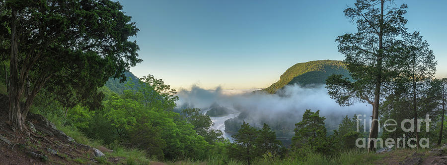 Morning Steam Over The Delaware Water Gap Photograph