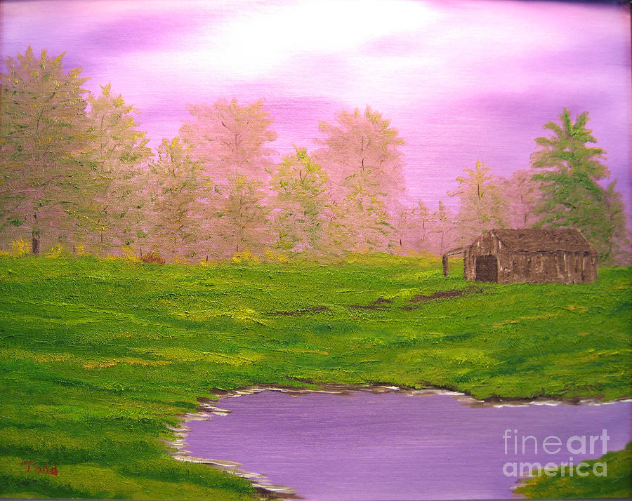 Lanscape Painting - Morning Storm by Todd Androy