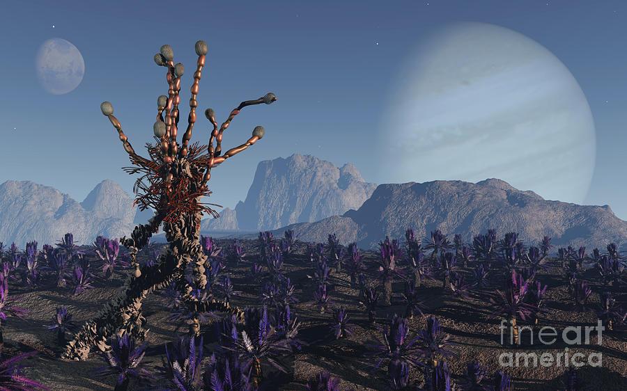 Alien Digital Art - Morning Stroll by Richard Rizzo