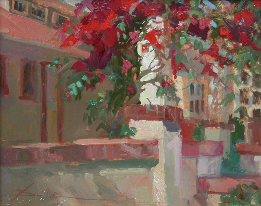 Morning Sun Banning House Painting by Betty Jean Billups