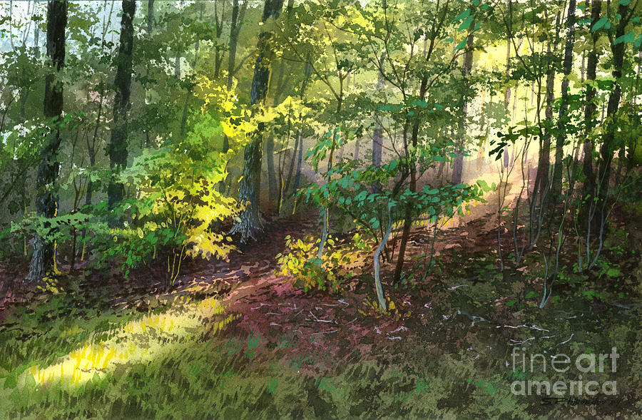 Watercolor Painting - Morning Sunlight by Sergey Zhiboedov