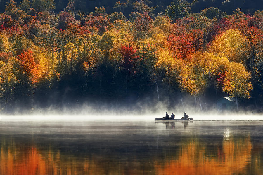 Autumn Photograph - Morning Sunrise by Magda Bognar