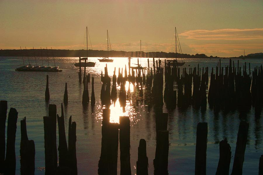 Landscape Photograph - Morning Sunrise Over Bay. by Dennis Curry