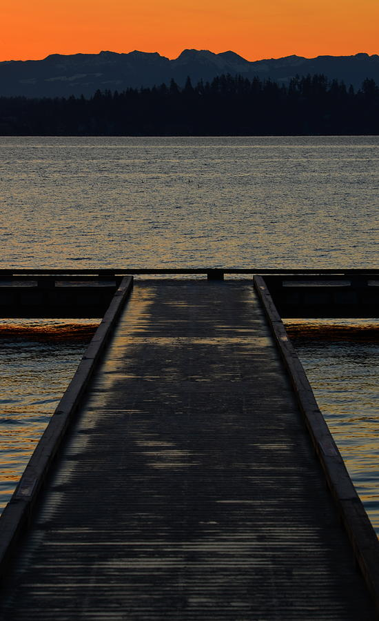 Docks Photograph - Morning T by Robert Evans