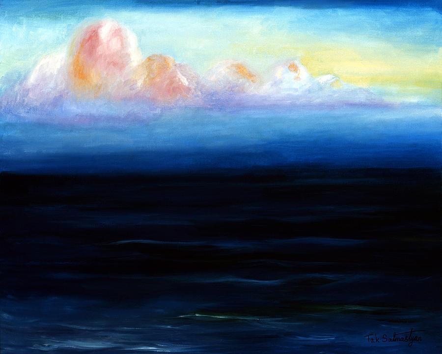 Landscape Painting - Morning by Tak Salmastyan