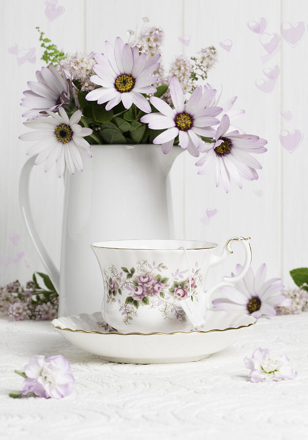 Morning Tea With Flowers Photograph By Amanda Elwell