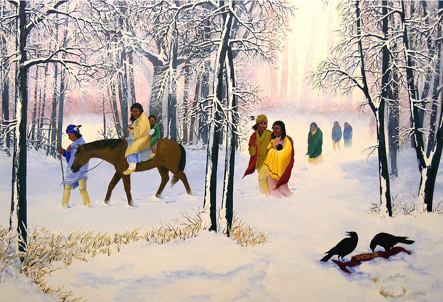 Cherokee Painting - Morning tears by John Guthrie