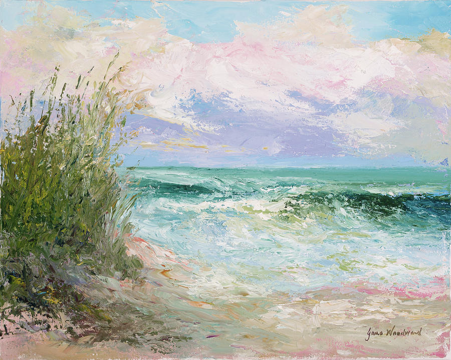 Ocean Painting - Morning Tide by Jane Woodward