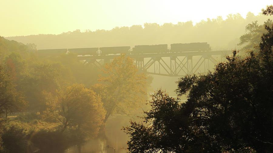 Train Photograph - Morning Train by Jeannee Gannuch