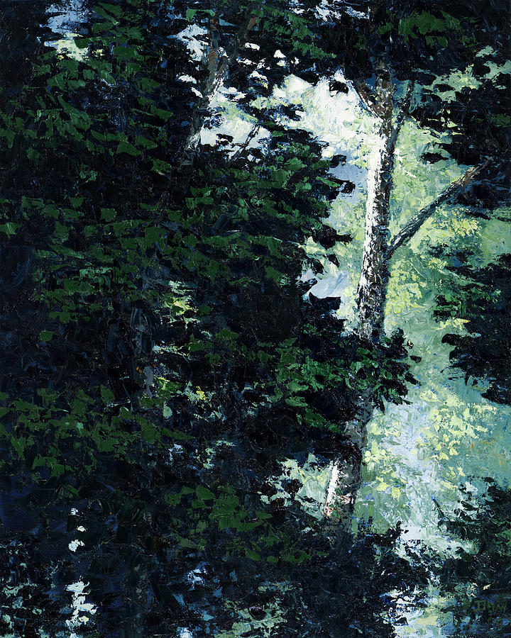 Trees Painting - Morning Trees by Paul Illian