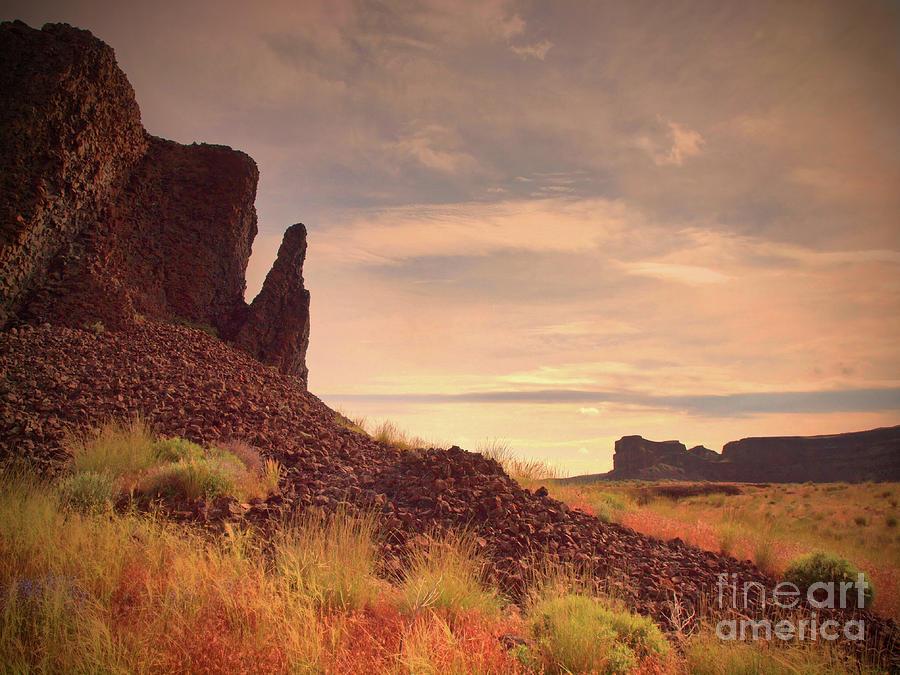 Rocks Photograph - Morning Trek by Tara Turner