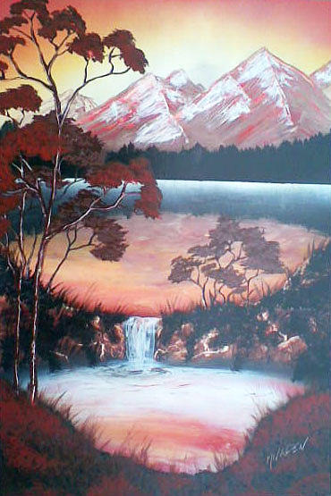 Landscape Painting - Morning View by Jonathan Munden