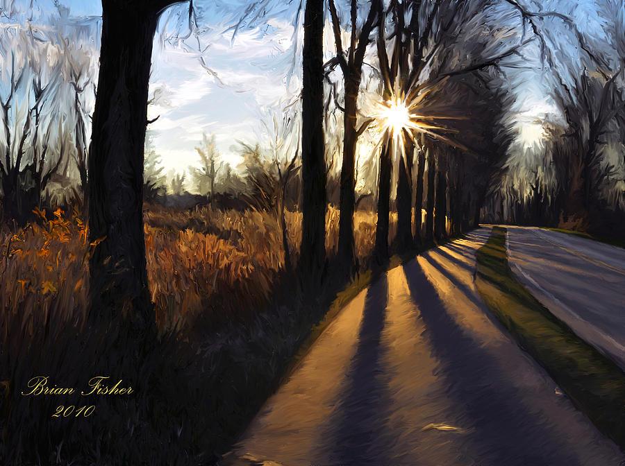 Morning Digital Art - Morning Walk by Brian Fisher