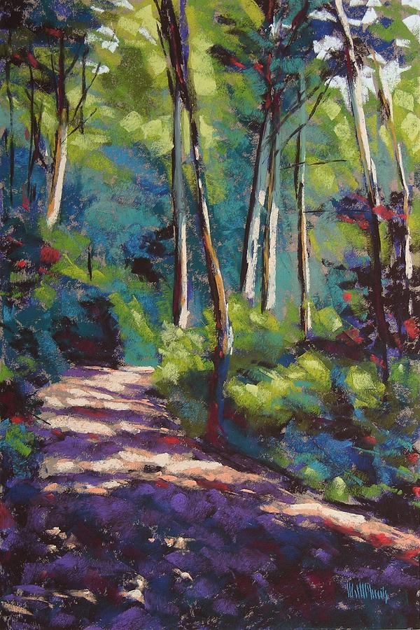 Landscape Pastel - Morning Walk 3 by Mary McInnis