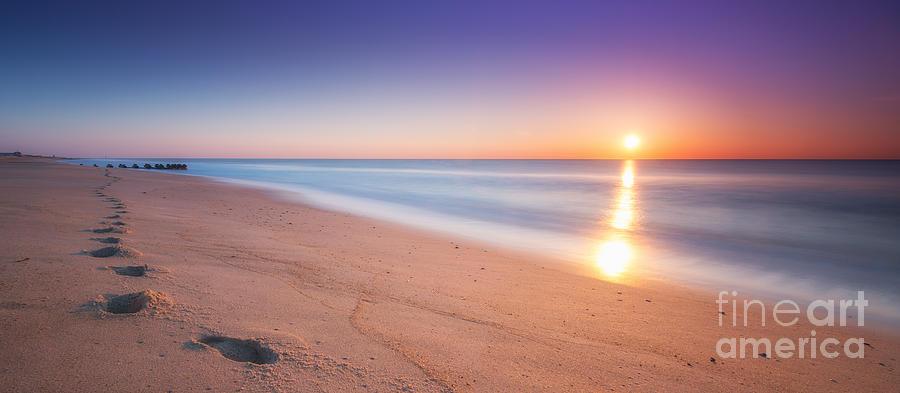 Sea Girt Photograph - Morning Walk  by Michael Ver Sprill