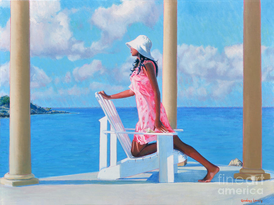 Black Woman Painting - Morning Watch by Candace Lovely