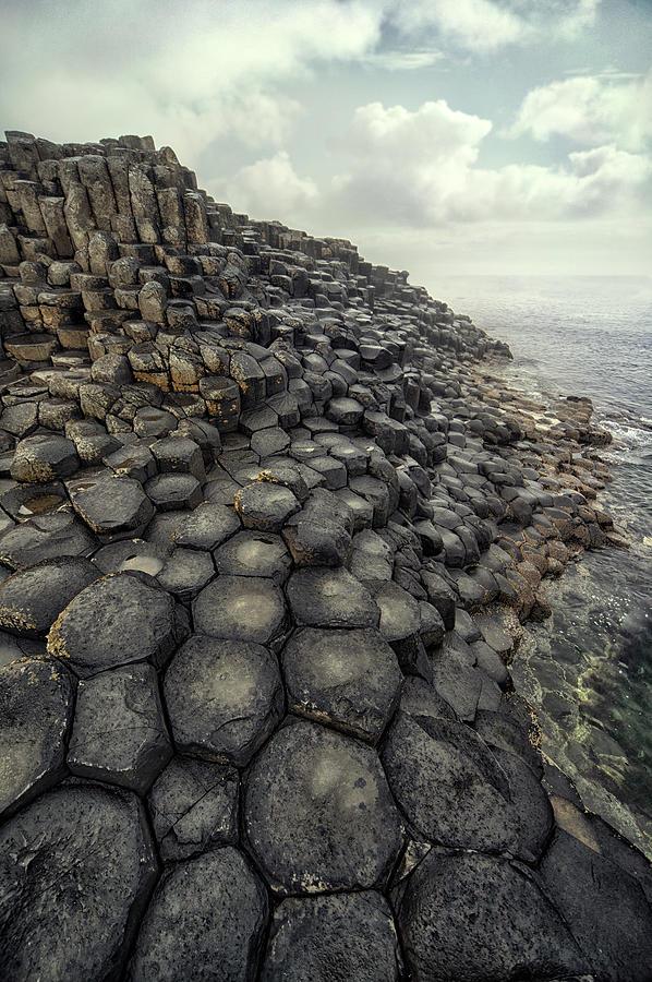 Giant Causeway Photograph - Morning With Giants by Jaroslaw Blaminsky