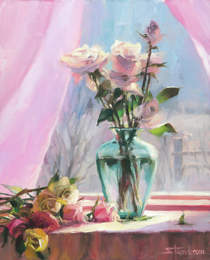 Flowers Painting - Mornings Glory by Steve Henderson