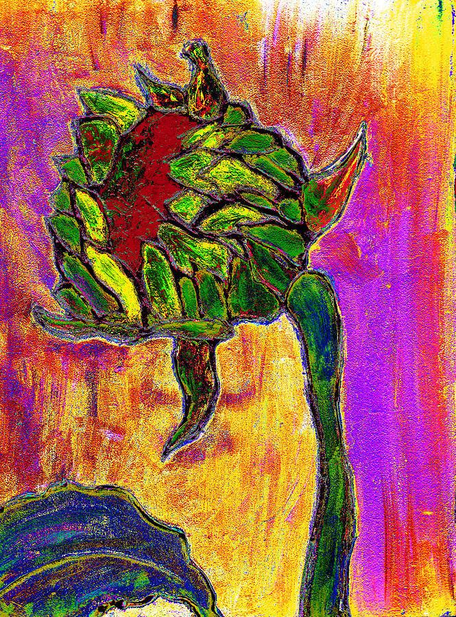 Sunflower Painting - Mornings Glow by Wayne Potrafka