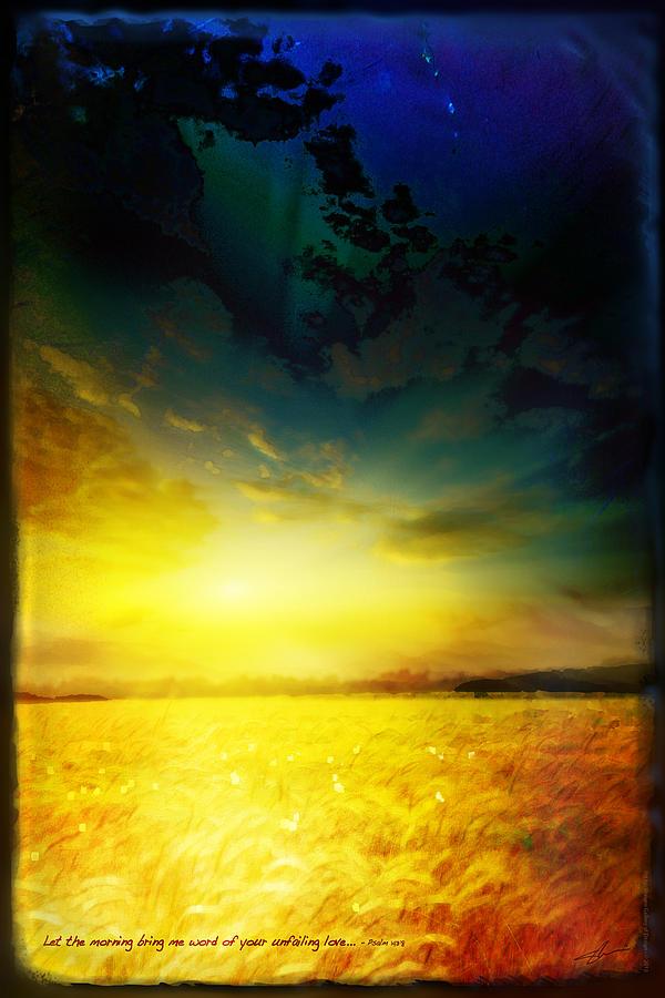 Landscape Mixed Media - Mornings Promise by Shevon Johnson
