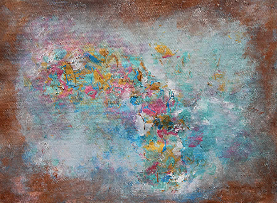 Abstract Painting Painting - Moroccan Dream Part 1 by Julia Apostolova