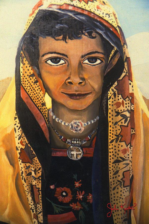 Moroccan Smile Painting - Moroccan Smile by John Keaton