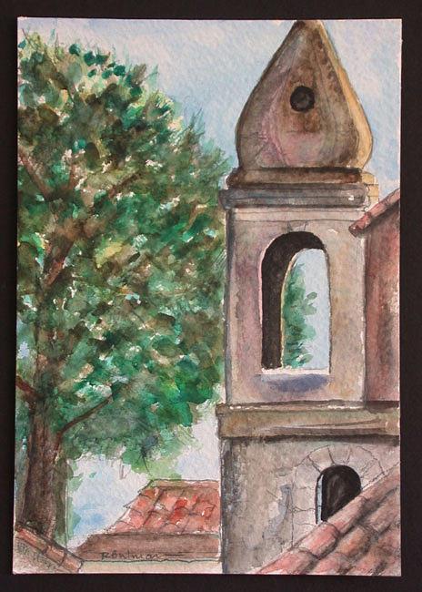 Taormina Painting - Moroccan Tower Taormina by Richard Bulman