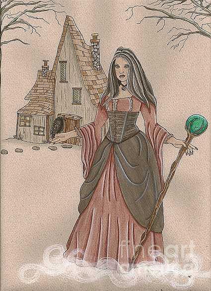 Fantasy Painting - Morrigan by Kerry Swinamer