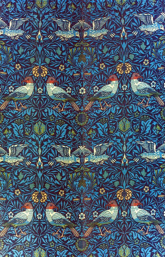 1878 Photograph - Morris: Bird Fabric, 1878 by Granger