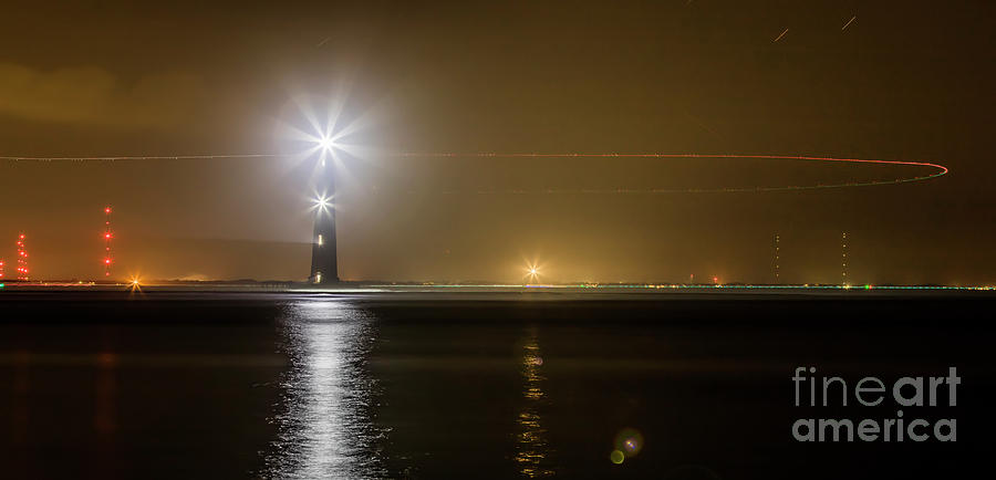 Morris Island Light House 140 Year Anniversary Lighting Photograph