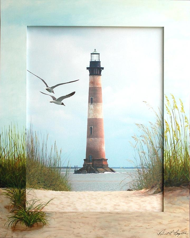 Lighthouse Mixed Media - Morris Island Light by Robert Boynton