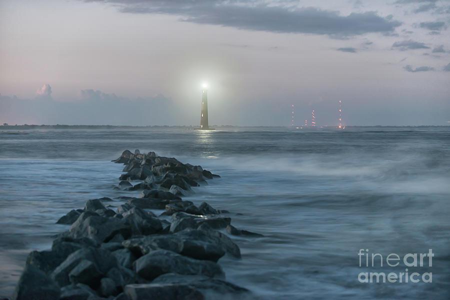 Morris Island Lighthouse Anniversary Lighting In Charleston Photograph
