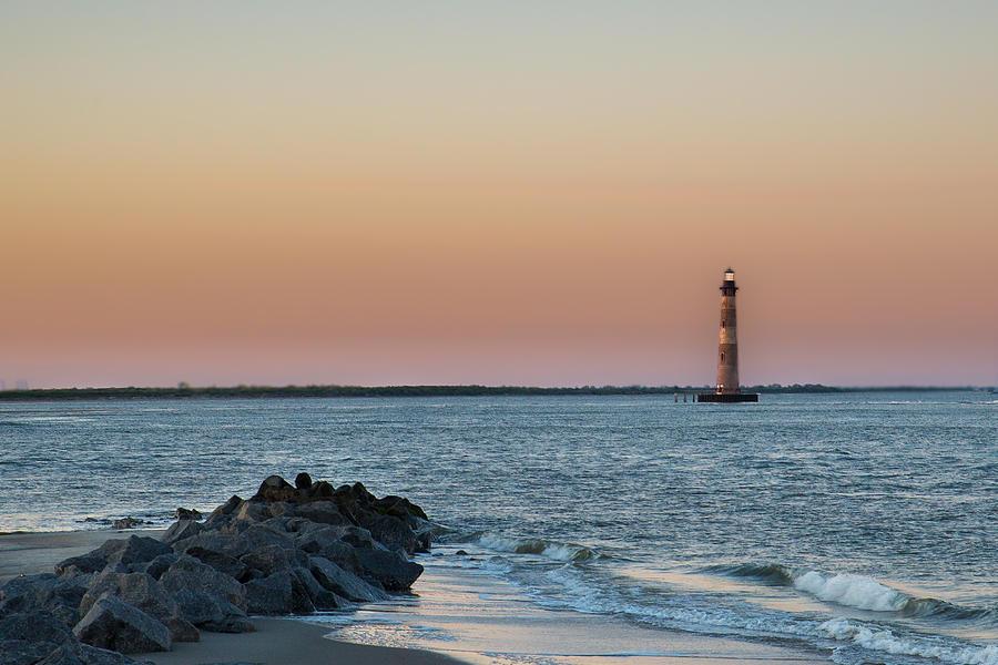 Beach Photograph - Morris Island Lighthouse by Drew Castelhano