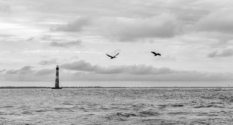 Folly Beach Photograph - Morris Lighthouse by Dustin Ahrens