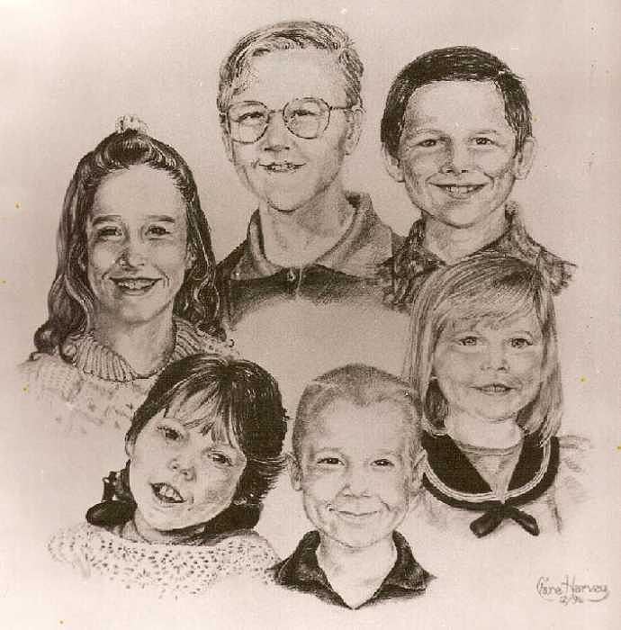 Portraits Drawing - Morrison Grandchildren by Clare Harvey