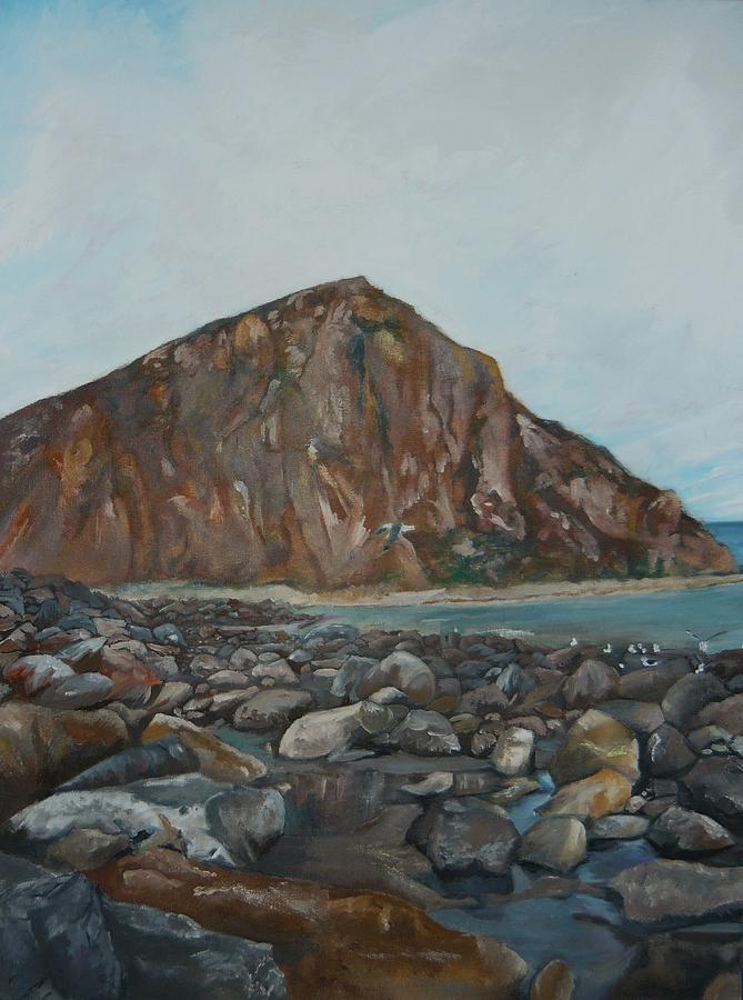 Morro Bay Painting - Morro Rock by Travis Day