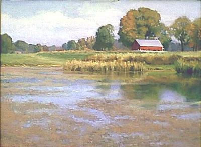 Morrow Farm Painting by Chuck Marshall