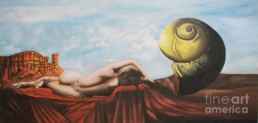 Landscape Painting - Mortal Coil by Zeb Shaffer
