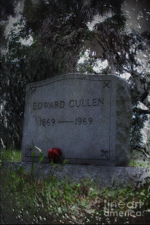Tombstone Photograph - Mortal Edward Cullen by Sid Graves