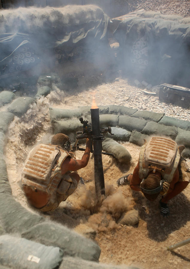 Afghanistan Photograph - Mortar Crew In Action by Roy Pedersen