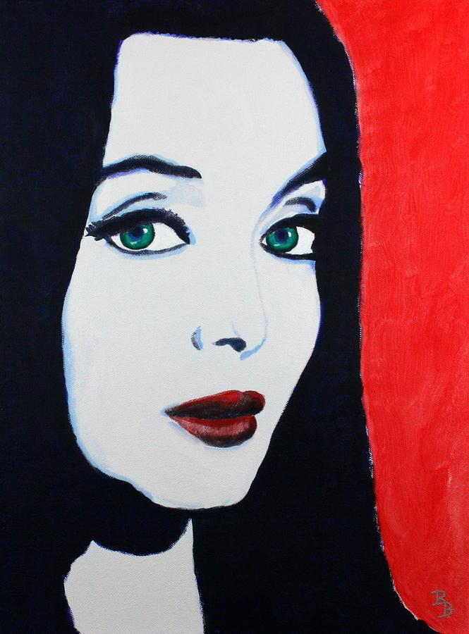 Morticia Painting - Morticia Addams by Bob Baker