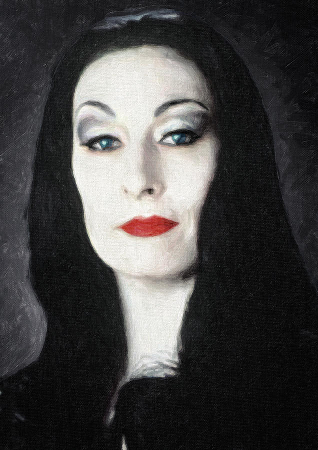 Morticia Addams Painting By Zapista