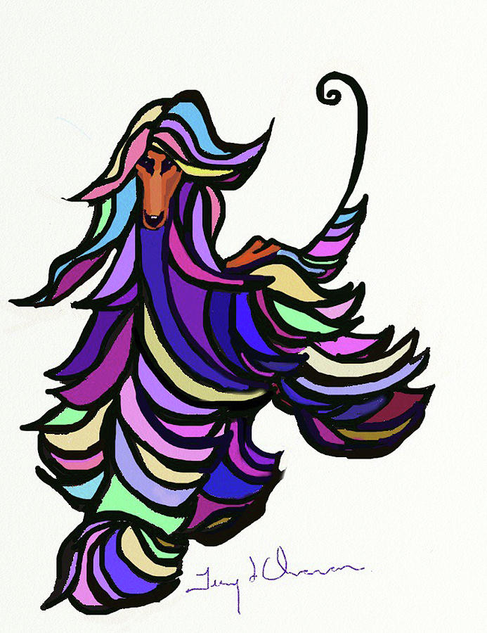 Mosaic Afghan Hound by Terry Chacon