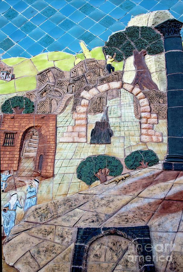 Mosaic Art At Petra Photograph by Mae Wertz